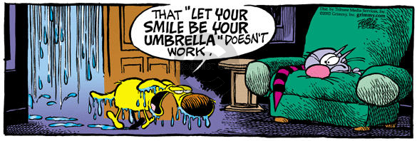 Comic Strip Mike Peters  Mother Goose and Grimm 2002-04-05 downpour
