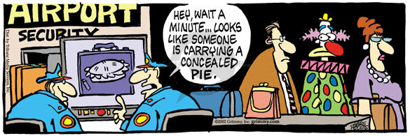 Comic Strip Mike Peters  Mother Goose and Grimm 2002-04-19 carry-on luggage