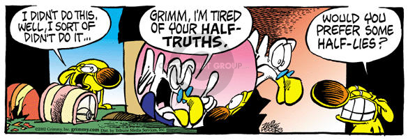 Comic Strip Mike Peters  Mother Goose and Grimm 2002-05-16 half