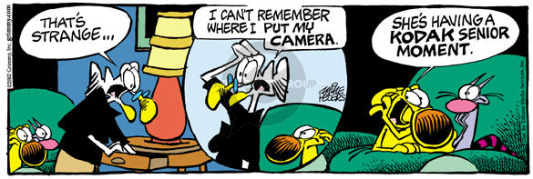 Cartoonist Mike Peters  Mother Goose and Grimm 2002-05-27 aging