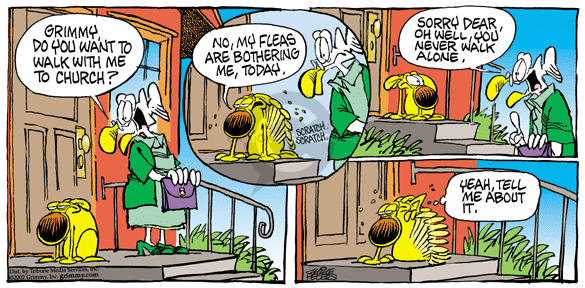 Comic Strip Mike Peters  Mother Goose and Grimm 2002-06-09 chafe
