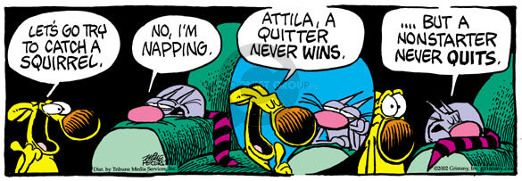 Cartoonist Mike Peters  Mother Goose and Grimm 2002-06-15 Attila
