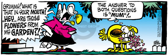 Comic Strip Mike Peters  Mother Goose and Grimm 2002-06-18 mouth