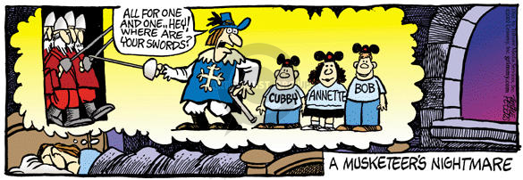 Comic Strip Mike Peters  Mother Goose and Grimm 2002-07-12 unification