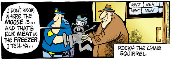 Comic Strip Mike Peters  Mother Goose and Grimm 2002-09-16 disappearance