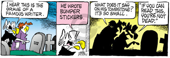Comic Strip Mike Peters  Mother Goose and Grimm 2002-09-19 tomb