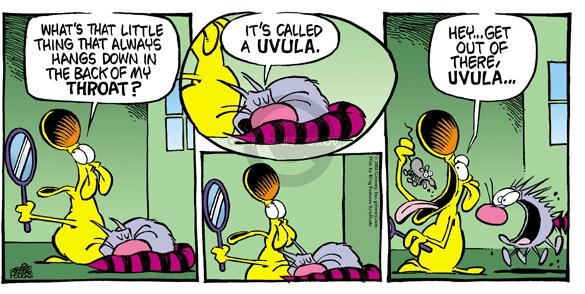 Comic Strip Mike Peters  Mother Goose and Grimm 2004-09-19 cat name