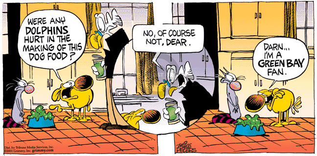 Comic Strip Mike Peters  Mother Goose and Grimm 2001-09-23 dolphin