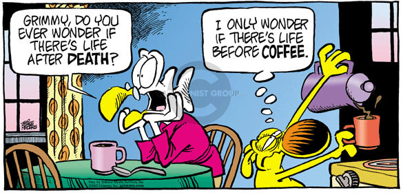 Comic Strip Mike Peters  Mother Goose and Grimm 2002-10-13 eternal life