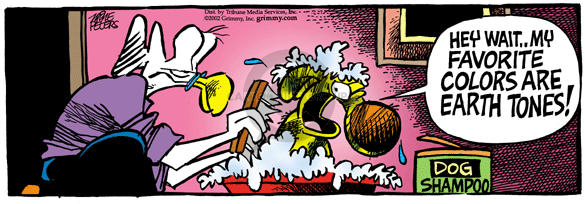 Comic Strip Mike Peters  Mother Goose and Grimm 2002-10-16 hair color