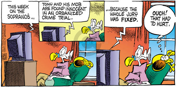 Comic Strip Mike Peters  Mother Goose and Grimm 2002-10-27 spay