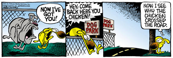 Cartoonist Mike Peters  Mother Goose and Grimm 2002-11-07 dog park