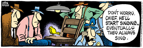 Comic Strip Mike Peters  Mother Goose and Grimm 2002-11-15 divulge