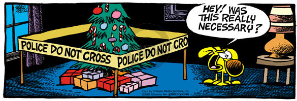 Comic Strip Mike Peters  Mother Goose and Grimm 2002-12-19 crime scene