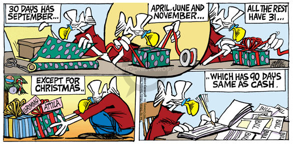 Comic Strip Mike Peters  Mother Goose and Grimm 2002-12-22 April