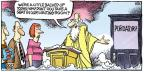 Cartoonist Mike Peters  Mother Goose and Grimm 2011-02-06 saint