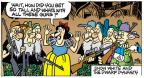 Cartoonist Mike Peters  Mother Goose and Grimm 2014-05-04 gun