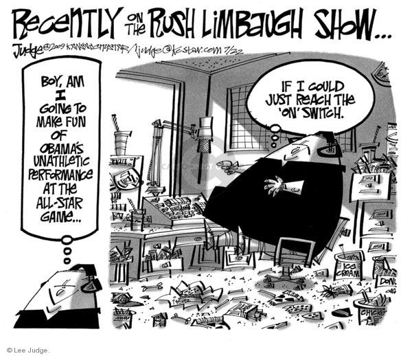 Lee Judge  Lee Judge's Editorial Cartoons 2009-07-22 Barack Obama
