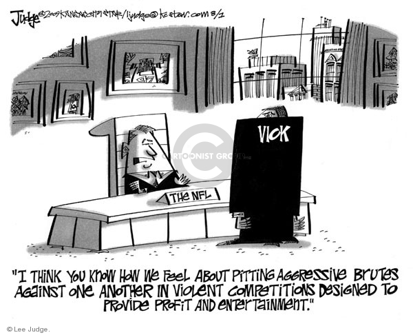 Cartoonist Lee Judge  Lee Judge's Editorial Cartoons 2009-08-01 violence