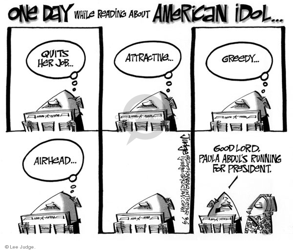 Lee Judge  Lee Judge's Editorial Cartoons 2009-09-09 judge