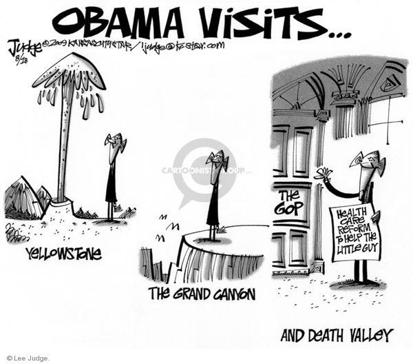 Cartoonist Lee Judge  Lee Judge's Editorial Cartoons 2009-08-18 GOP