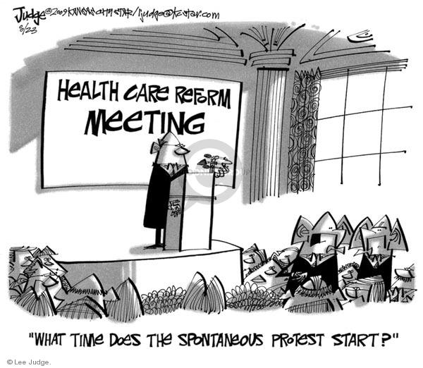 Cartoonist Lee Judge  Lee Judge's Editorial Cartoons 2009-08-23 republican