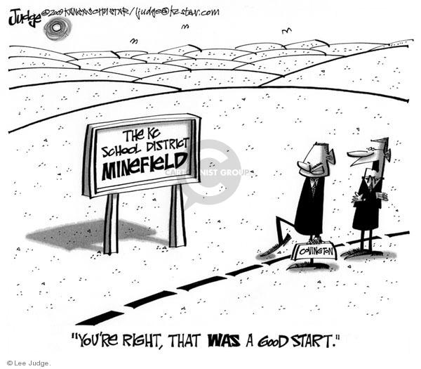 Cartoonist Lee Judge  Lee Judge's Editorial Cartoons 2009-08-27 editorial staff