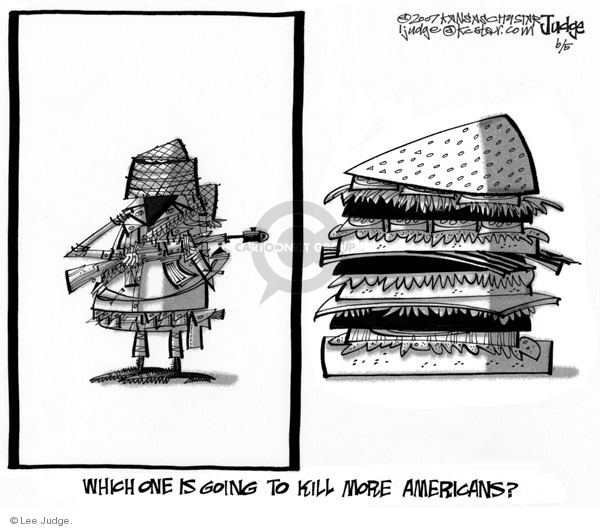 Lee Judge  Lee Judge's Editorial Cartoons 2007-06-05 judge