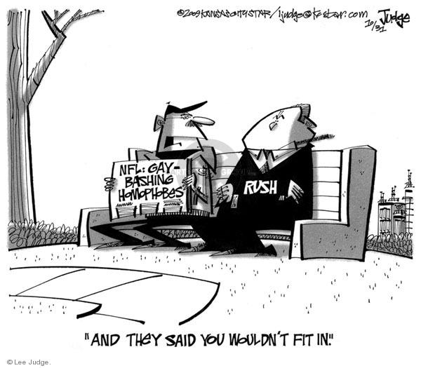 Lee Judge  Lee Judge's Editorial Cartoons 2009-10-31 bigotry