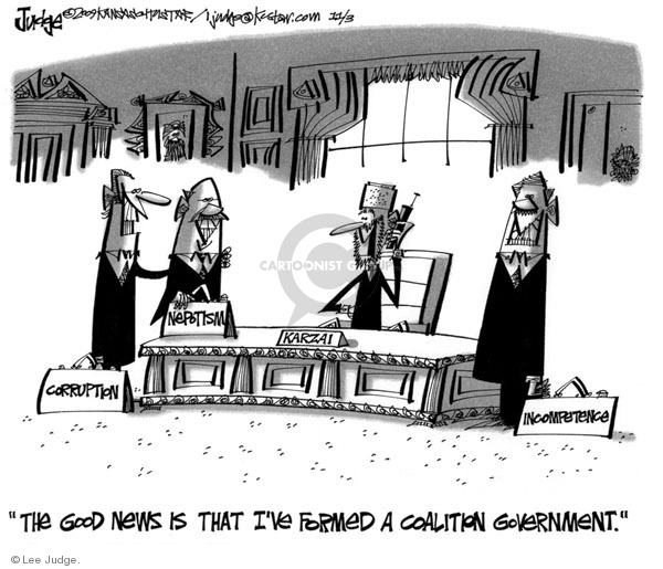 Lee Judge  Lee Judge's Editorial Cartoons 2009-11-03 incompetence