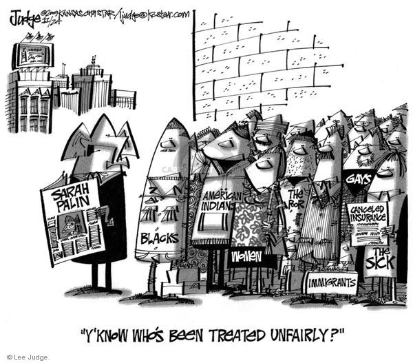 Lee Judge  Lee Judge's Editorial Cartoons 2009-11-24 equal rights