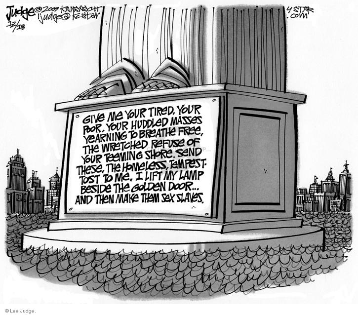 Lee Judge  Lee Judge's Editorial Cartoons 2009-12-18 liberty