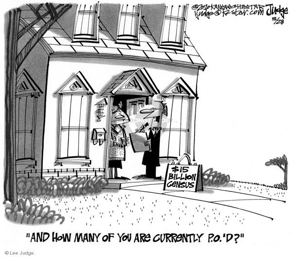 Lee Judge  Lee Judge's Editorial Cartoons 2010-03-28 census
