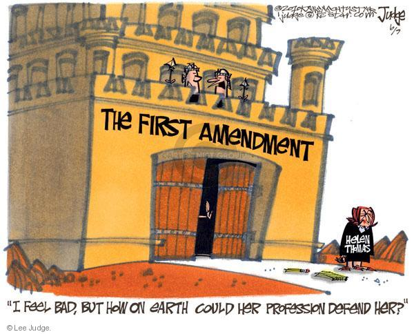 Lee Judge  Lee Judge's Editorial Cartoons 2010-06-09 freedom of speech