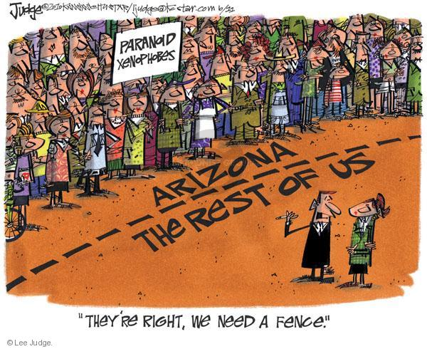 Cartoonist Lee Judge  Lee Judge's Editorial Cartoons 2010-06-11 civil liberty