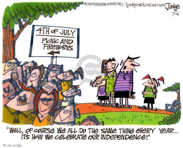 Cartoonist Lee Judge  Lee Judge's Editorial Cartoons 2010-07-04 family