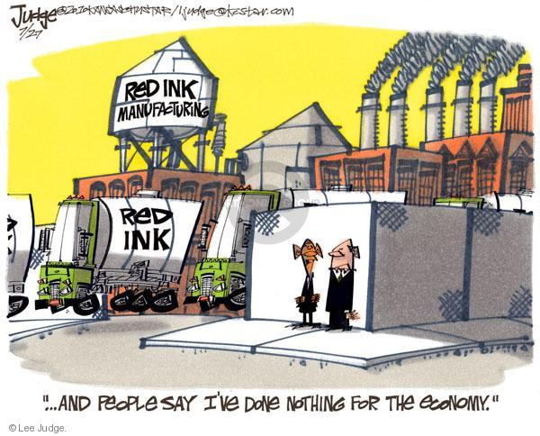 Lee Judge  Lee Judge's Editorial Cartoons 2010-07-27 federal budget