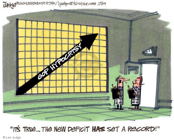 Lee Judge  Lee Judge's Editorial Cartoons 2010-07-29 federal budget