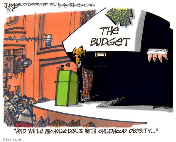 Cartoonist Lee Judge  Lee Judge's Editorial Cartoons 2010-09-28 first lady