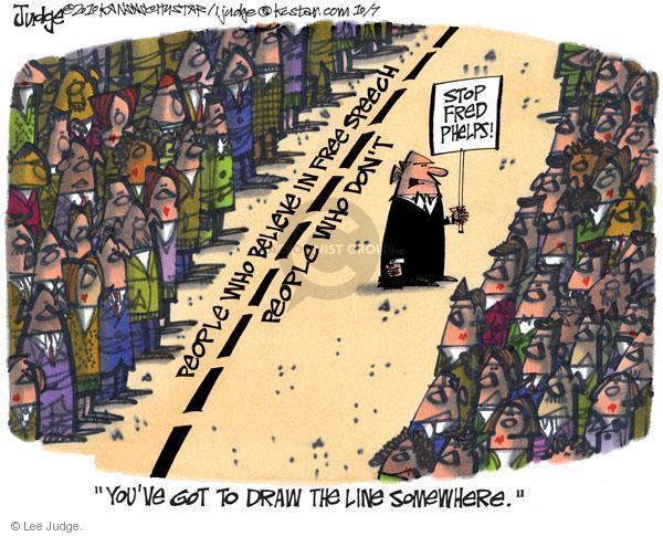 Lee Judge  Lee Judge's Editorial Cartoons 2010-10-07 freedom of speech