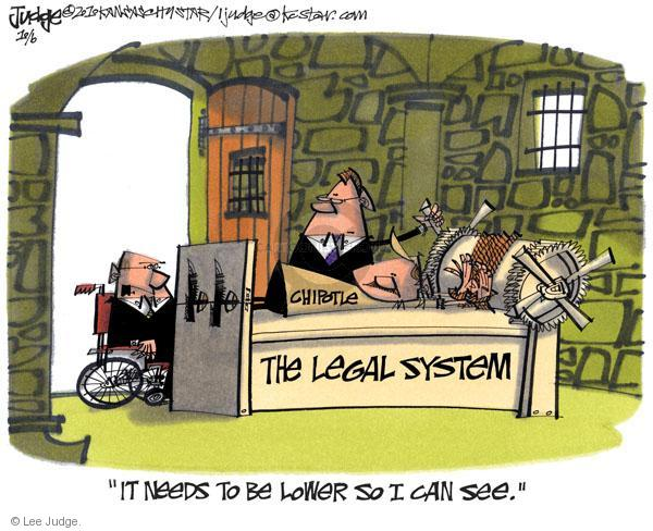 Lee Judge  Lee Judge's Editorial Cartoons 2010-10-06 lawsuit