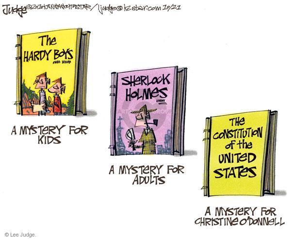 Cartoonist Lee Judge  Lee Judge's Editorial Cartoons 2010-10-21 civil liberty