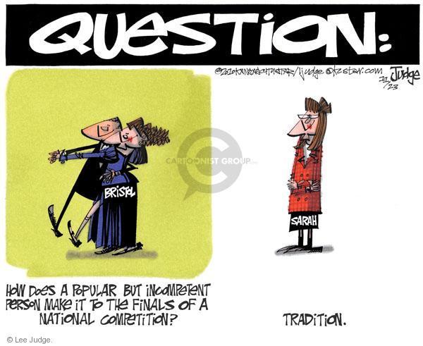 Lee Judge  Lee Judge's Editorial Cartoons 2010-11-23 incompetence
