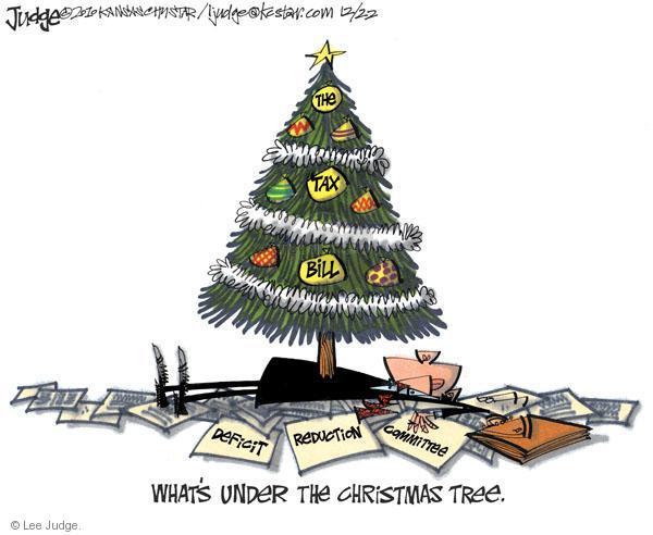Lee Judge  Lee Judge's Editorial Cartoons 2010-12-22 federal budget