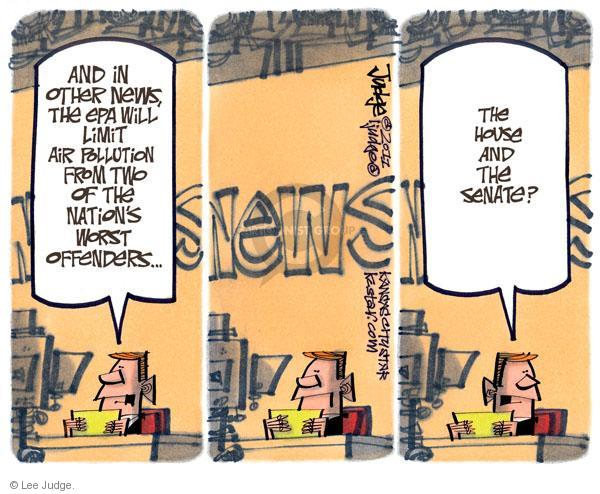 Cartoonist Lee Judge  Lee Judge's Editorial Cartoons 2011-01-05 congressional oversight