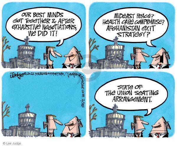 Cartoonist Lee Judge  Lee Judge's Editorial Cartoons 2011-01-25 congress health care