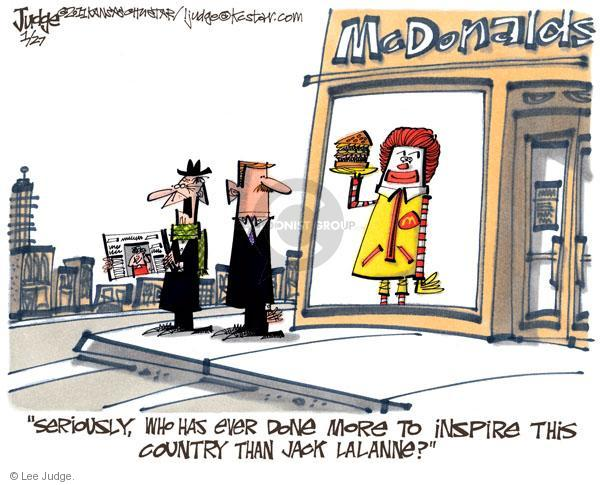 Cartoonist Lee Judge  Lee Judge's Editorial Cartoons 2011-01-27 inspiration
