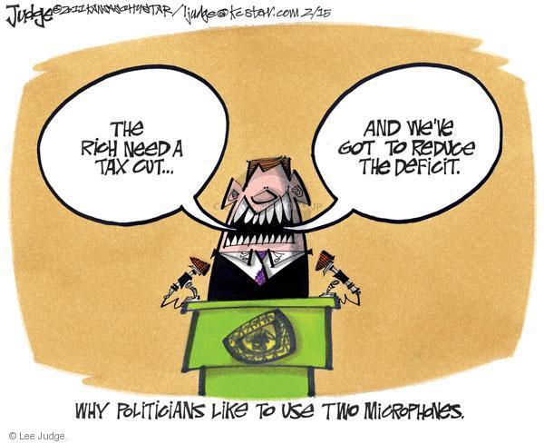 Lee Judge  Lee Judge's Editorial Cartoons 2011-02-15 federal budget