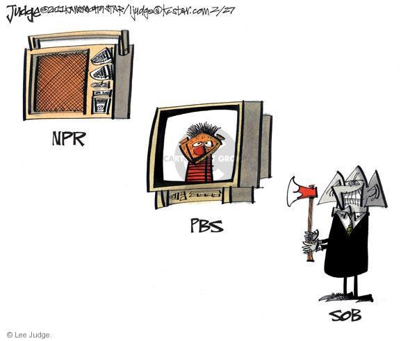 Lee Judge  Lee Judge's Editorial Cartoons 2011-02-27 federal budget