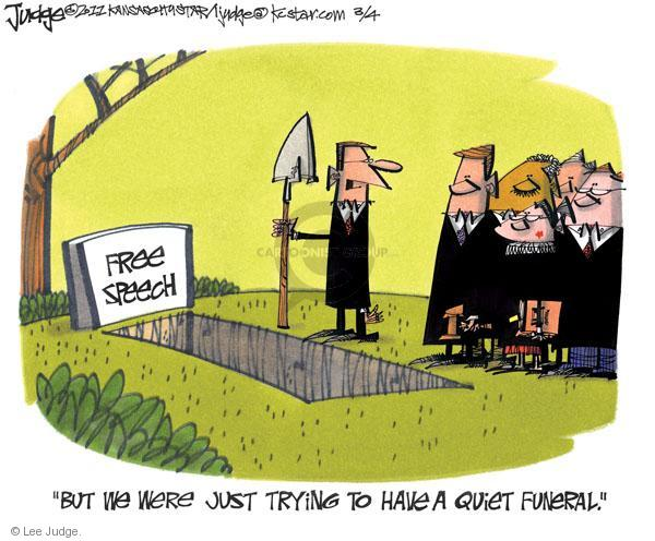 Lee Judge  Lee Judge's Editorial Cartoons 2011-03-04 first amendment
